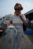 073 Claire with a blue crab