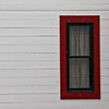 Red Framed Window