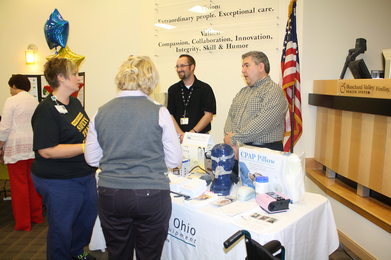 NOME associates sharing information on the equipment they carry for our patients and the community.