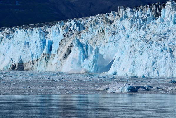 Hubbard Glacier calving sequence #4.  Keep in mind that the seracs that are falling are approximately 250 feet tall.