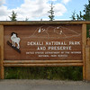 THE sign announcing Denali National Park.