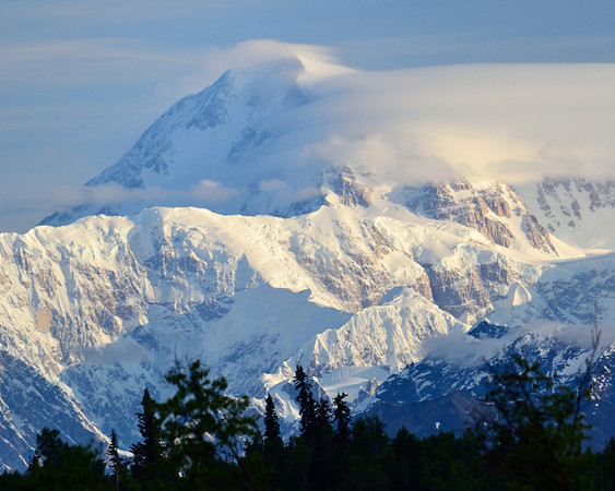 Early morning view of Mt. McKinley.