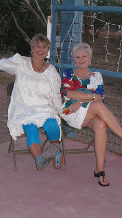Betty & Dorothy taking a load off
