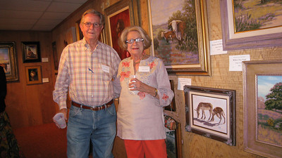 Bill & Judy Jackson also bought a painting from Hugh Campbell