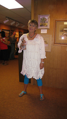 Betty Murphree all dolled-up for the night event