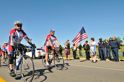 200 cyclists ride 42 miles from Cleburne to Arlington, Texas during the 2012 Ride2Recovery Texas Challenge. Ride2Recovery is a non-profit organization that helps rehabilitate injured veterans and healing heroes through cycling. Photos by Tiffini Jones Vanderwyst