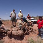 Cruse Moab - Hells Revenge Group wating for the trail to clear