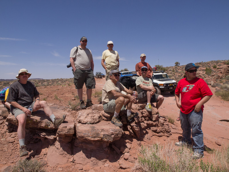 Cruse Moab - Hells Revenge<br /> Group wating for the trail to clear