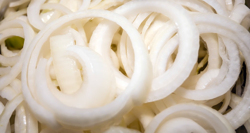 sliced onions prepared