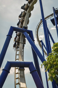A rollercoaster at a theme park in USA
