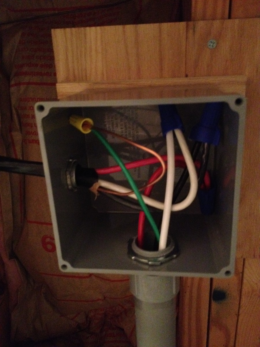 Junction box connections made