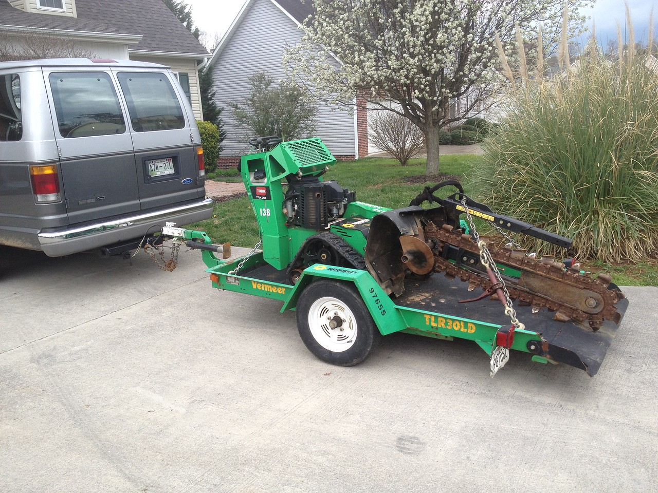 New plan: Rent a power trencher