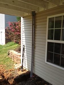 External conduit finished