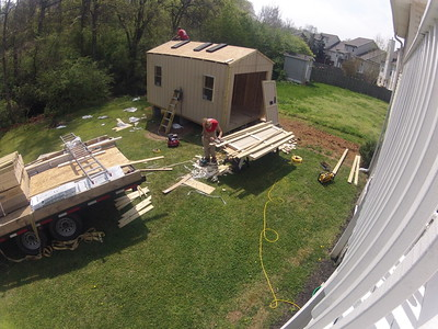 Shed Build Timelapse