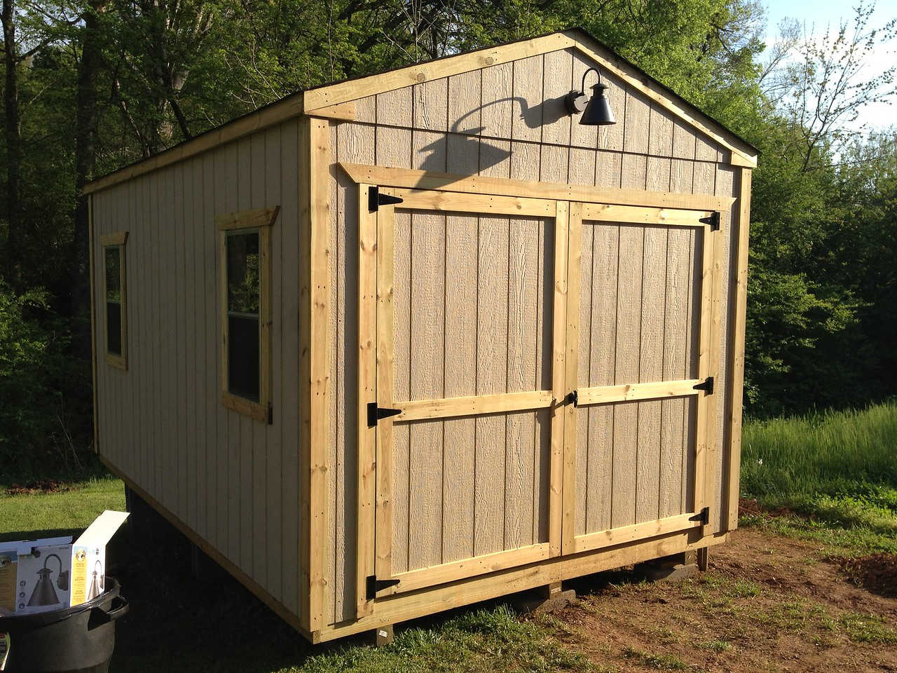 Which means the shed's all done