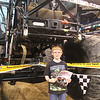 John fits under the monster truck
