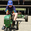 John doing the tractor pull at Pioneer Days