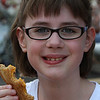 Iris enjoying grilled cheese from the dairy barn 2012 State Fair