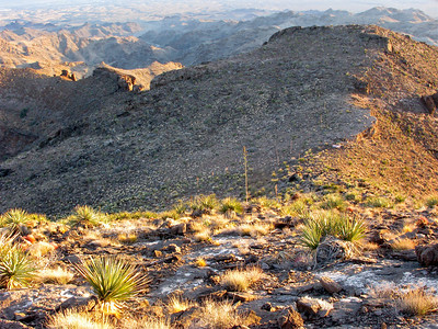Long view of ridge to Bertha Peak