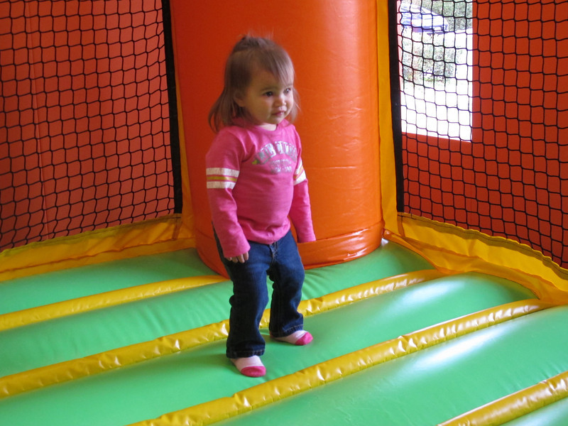 My first time in a jumpy house! At my friend Caden's birthday party.