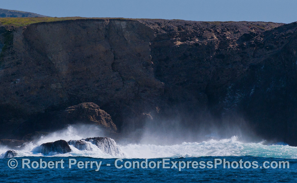 A wave at Frasier Point, Santa Cruz Island.