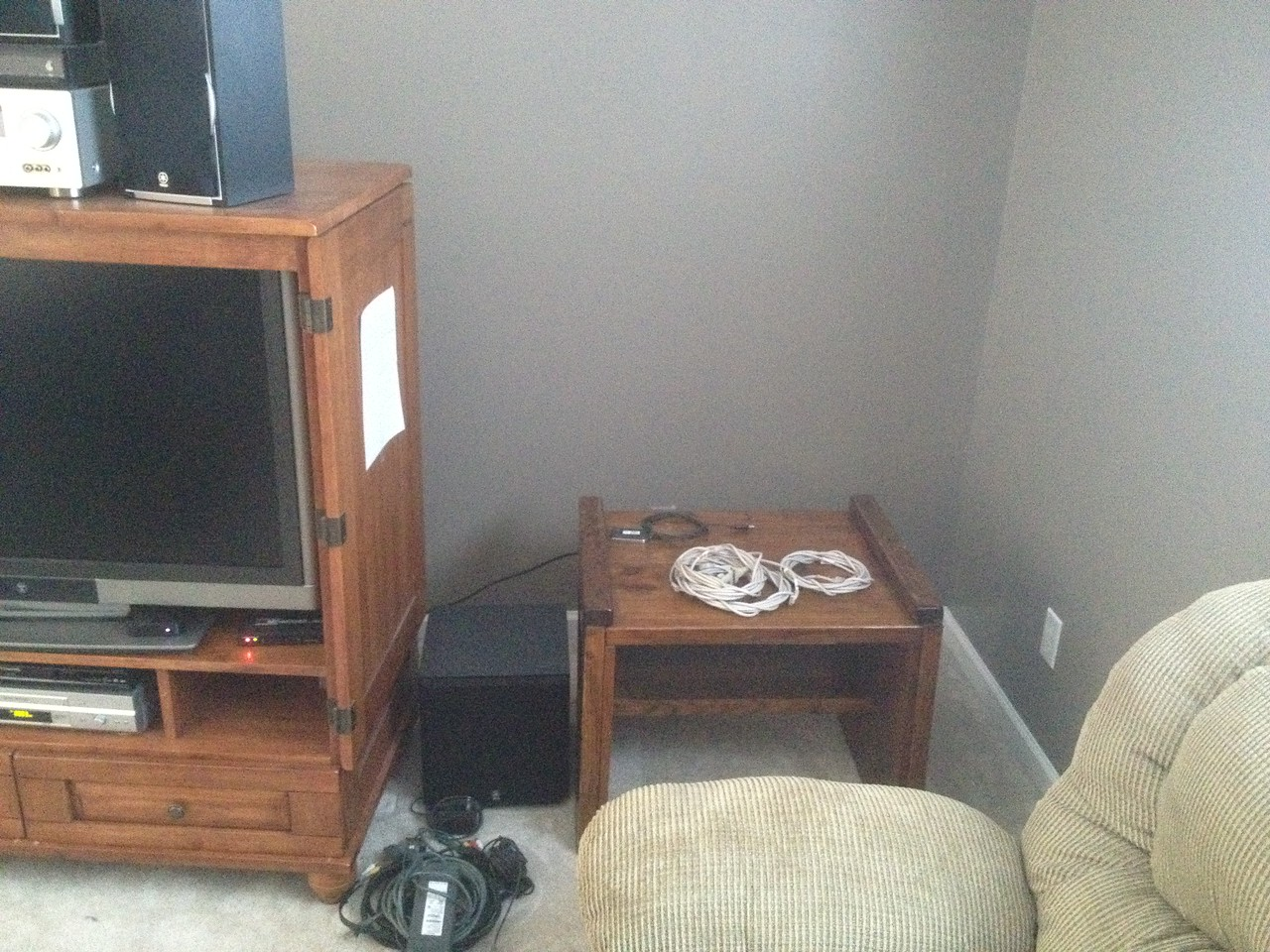 Considering how to get a cable up to the upstairs TV