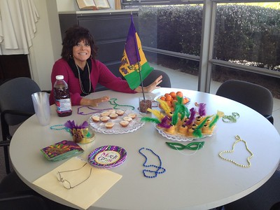 Marti Gras in the front office