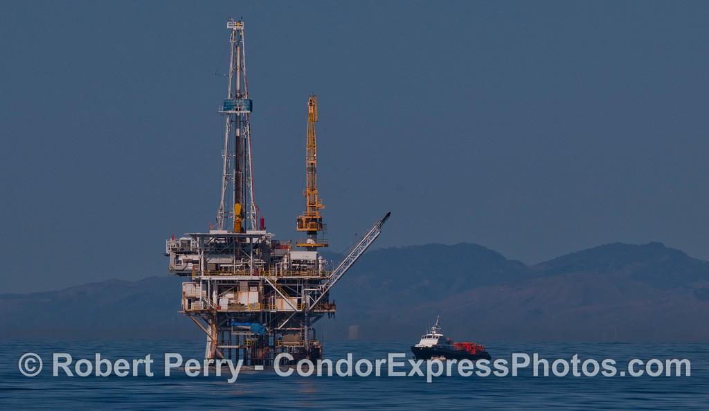 Platform Holly & supply vessel 2012 03-03 SB Channel-007