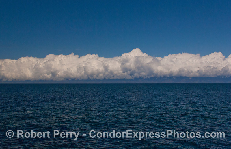 Storm clouds over the Santa Barbara coastline.