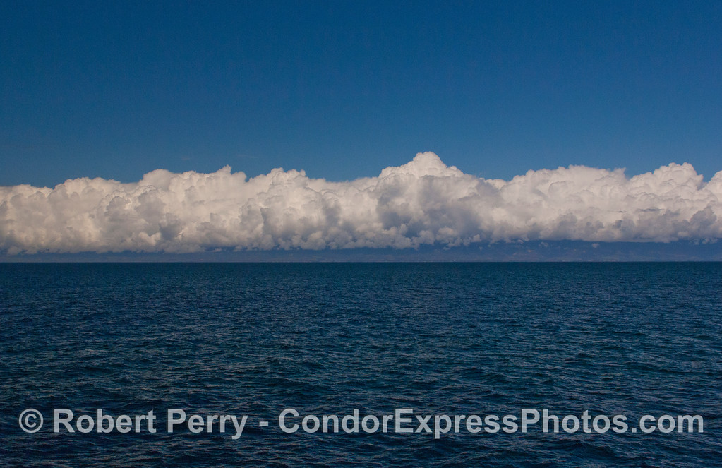 Storm clouds over the Santa Barbara coastline.