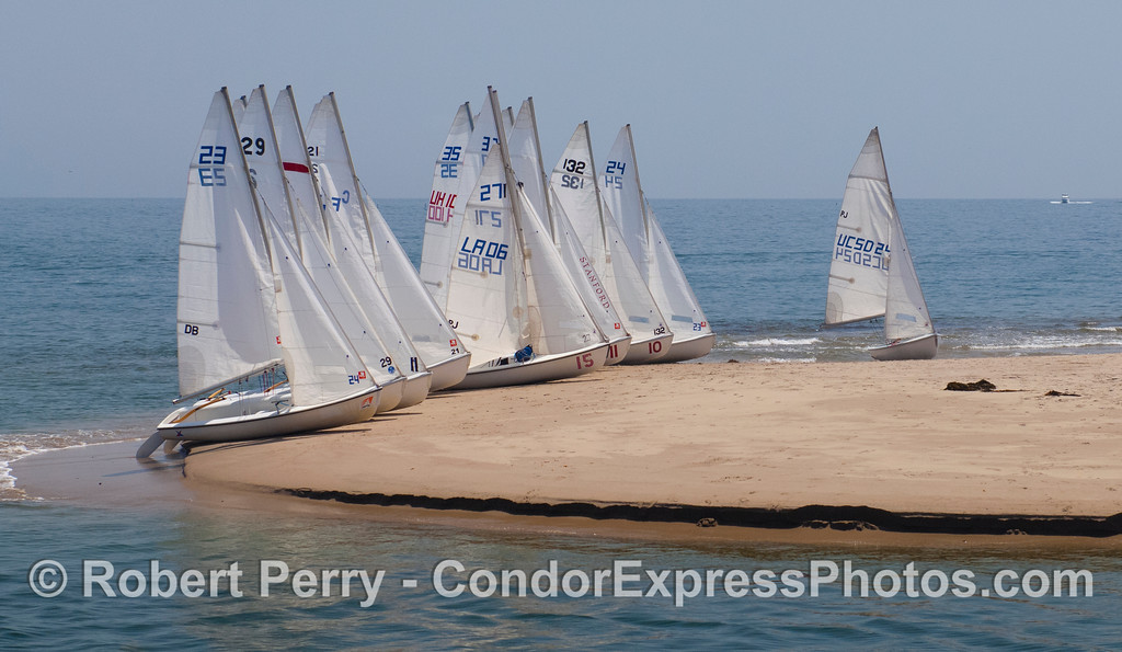 Vessels sailboats on sandspit 2012 04-29 SB Harbor-a-010
