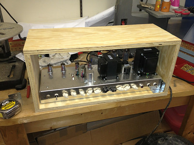 "Building a quick-and-dirty plywood cabinet so I can gig with the amp while I work on the ""real"" cab"