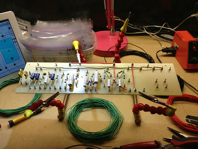 Reverb section of main board done, working on power amp section