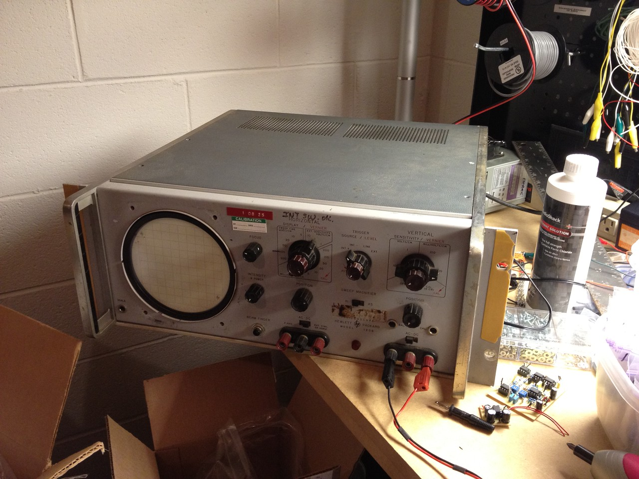 I picked up a '50s HP 120B oscilloscope for $15 on Craigslist. I wonder if it works?