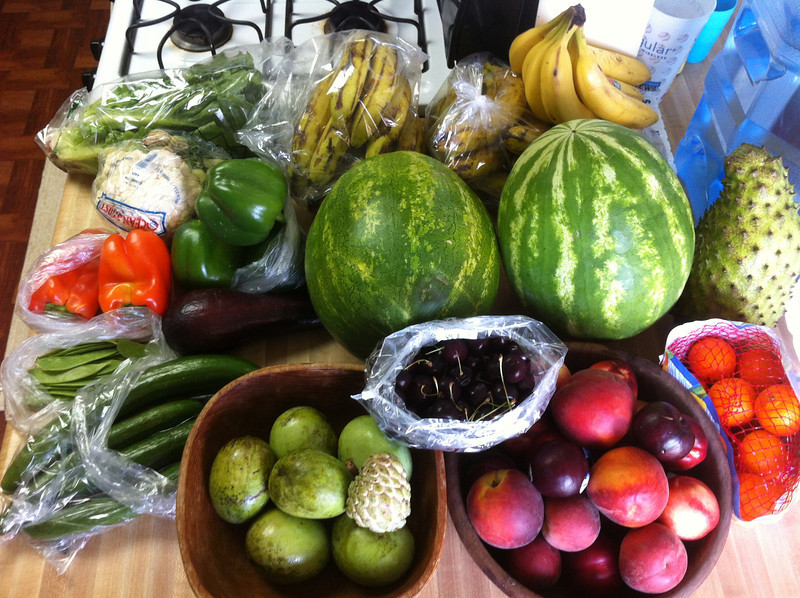 I think we got enough produce this weekend :)