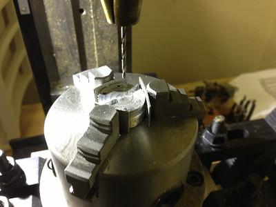 Drilling holes for LED screws