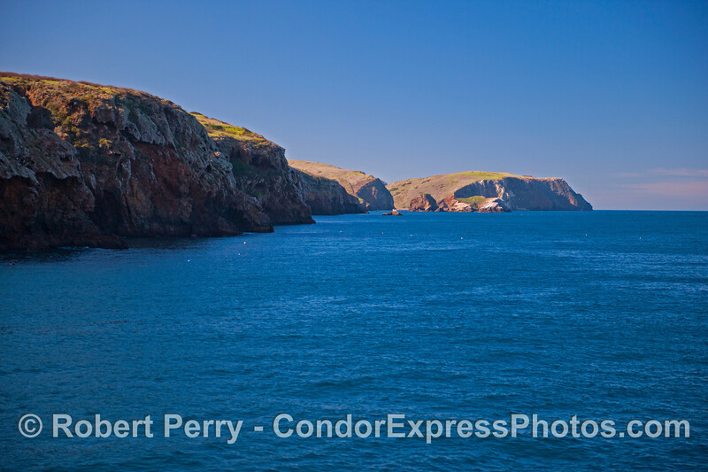 The view from San Pedro Point to Scorpion, Santa Cruz Island.