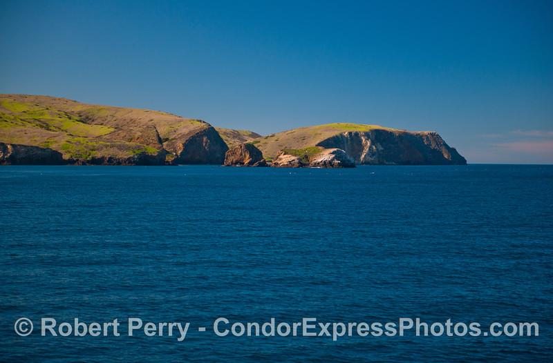 Scorpion Rock, Santa Cruz Island, from the east.