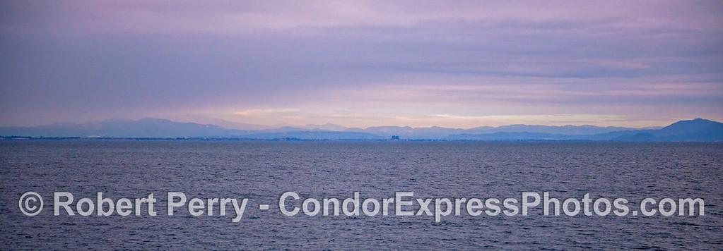 Panorama-Mainland coast-Boney Ridge and Camarillo from sea 2012 12-22 SB Channel-a-004