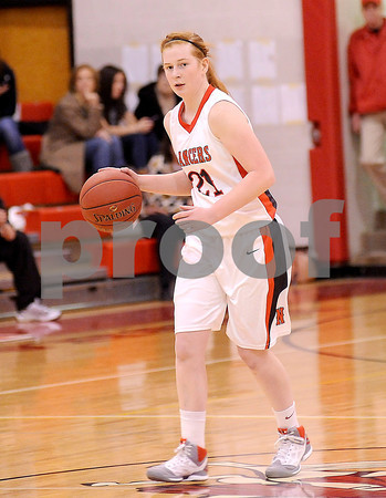 Courtney Caughey-Stambul/NEWS<br /> Erin Warvell brings the ball up the floor for Neshannock.