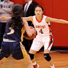 Courtney Caughey-Stambul/NEWS<br /> Neshannock's Stephanie Paras guards Shenango's Angelina Sibeto last night.