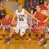 Erica Galvin/NEWS<br /> Laurel's Jacob Wilson drives to the hoop against Mohawk's Tyler Rader.
