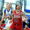 Courtney Caughey-Stambul/NEWS<br /> New Castle's Velvet Wade boxes out Ellwood City's Angela McCowin.