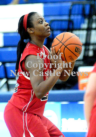 Courtney Caughey-Stambul/NEWS<br /> New Castle's Kelsey Scott shoots a free throw in the second half.
