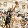 Erica Galvin/NEWS<br /> Malik Hooker shoots a shot against the North Allegheny defense.