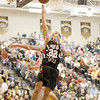 Erica Galvin/NEWS<br /> Anthony Richards makes a lay-up in the second half.