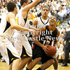 Erica Galvin/NEWS<br /> Shawn Anderson goes up strong to the hoop against North Allegheny.