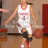 Erica Galvin/NEWS<br /> Stephanie Paras dribbles down the court in the third quarter.