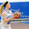 Courtney Caughey-Stambul/NEWS<br /> Union's Christina Noble searches for an open teammate.