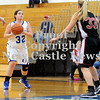 Courtney Caughey-Stambul/NEWS<br /> Union's Hannah Booth shoots the basketball as Sewickley Academy's Katelyn Ripple defends.
